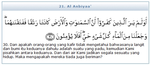 QS (21) Al Anbiyaa' 30