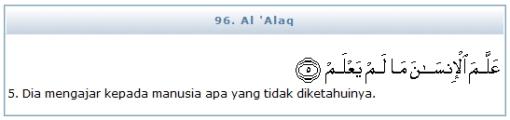 QS (96) Al 'Alaq 5